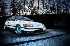 honda-crx-white-blue - Rides & Styling
