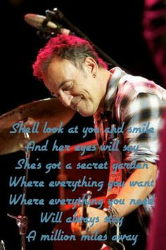 Secret Garden - Bruce Springsteen I love this song :) Music Lyrics, Music Quotes, Song Quotes, Elvis Presley, Bruce Springstein, The Boss Bruce, Bruce Springsteen The Boss, E Street Band, Born To Run