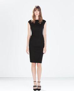 Vestidos Zara OI 2014 2015 tubo con cuello barco