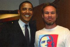 President Obama and Jeff Ament, bassist for Pearl Jam