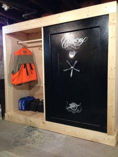 Built in gun safe with storage Gun Storage, Locker Storage, Safe Storage, Weapon Storage, Storage Area, Hidden Storage, Storage Room, Gun Safe Room, Gun Safe Diy