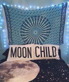 Quero esse forro de cama de céu estrelado com uma lua cheia!