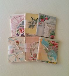 Vintage Greeting Card Scrap Paper Collage Pack by VelvetSoup, $3.25