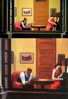 13 Edward Hopper Paintings Are Recreated As Sets For Indie Film 'Shirley - Visions of Reality.' Room in New York Edward Hopper. Arte Indie, Indie Art, Shirley Visions Of Reality, Edouard Hopper, Edward Hopper Paintings, Tableaux Vivants, Paintings I Love, Art Challenge, Pictures To Paint