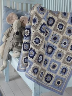 Helt enkel hekling, rettelse babyteppe side 40 Tekstiler, Crochet Patterns, Blanket, Babys, Children, Design, Babies, Young Children, Boys