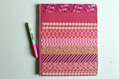 DIY Washi Tape Covered Notebook