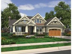 Eplans Cottage House Plan - Perfect For an Informal Lifestyle - 2320 Square Feet and 3 Bedrooms from Eplans - House Plan Code HWEPL69593