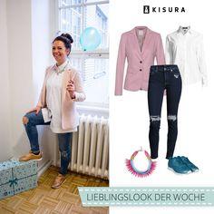 #ABOUTKISURA STYLIST LOOKS // do you like Leonis look? :) #ootd #pink #denim #KISURA #fashion