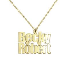 Couples Nameplate Name Necklace
