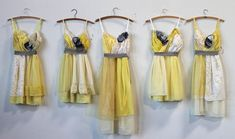 Custom Yellow Bridesmaids Dresses by ArmoursansAnguish on Etsy