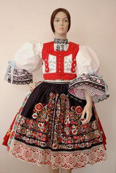 Folk costume from Kyjov region (South Moravia), Czechia Rare Clothing, Folk Clothing, Folk Costume, Costume Dress, Traditional Fashion, Traditional Dresses, Costumes Around The World, Folk Dance, Ethnic Dress