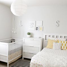 Best Nursery Nook Ideas - Creating a Cozy Space for Baby matching patterns in a white master bedroom Baby Bedroom, Baby Room Decor, Master Bedroom, Bedroom 2018, Bedroom Boys, Bedroom Small, Bedroom Wardrobe, Nursery Nook, Apartment Nursery