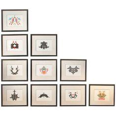 Set of 10 Rorschach Inkblots | 1stdibs.com