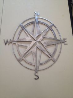 Nautical Compass Rose Wall Hanging by CuttingEdgeSteelwork on Etsy