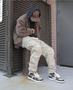 Street Style Outfits Men, Black Men Street Fashion, Mode Outfits, Retro Outfits, Fashion Outfits, Men Street Outfit, Dope Fashion, Japan Fashion, Moda Streetwear