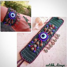 😊🍀🏵 💖🌼🌷🌻🌸🌹🐞 👉 WhatsApp no 05353592627 - Jewelry Textile Jewelry, Fabric Jewelry, Beaded Jewelry, Handmade Jewelry, Bracelet Crochet, Freeform Crochet, Love Crochet, I Love Jewelry, Crochet Fashion