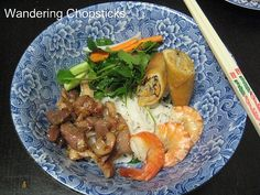 Bun Thit Heo Nuong, Tom, Cha Gio (Vietnamese Rice Vermicelli Noodles with Grilled Pork, Shrimp, and Egg Rolls) 2