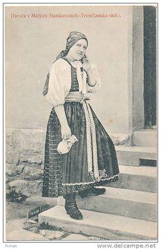 SLOVAKIA: SLOVENSKE KROJE -- Dievca v Malych Stankovciach (Trencianska stol.). -- Cis. 28 -- Vydava P. Sochan -- 1913 - Delcampe.net