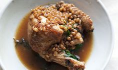 Nigel Slater's baked chicken with wheat, lemon and dill