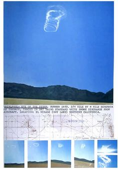 Dennis Oppenheim: Whirlpool, 1973. Documentation with photos and a map.