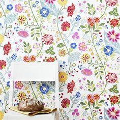 Amelie wallpaper - lightgreen - Sandbergs Tyg & Tapet