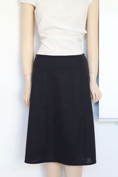 Sewing tutorial for an A-line skirt on Greenie Dresses for Less.