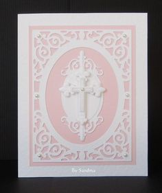 By Sandma - Spellbinder Crosses 2 and Filigree Delight were used to create this card