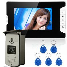 97.85$  Watch now - http://ali3z4.worldwells.pw/go.php?t=32744031314 - 7'' Wired Color Video door phone Intercom HD Doorbell System Kit IR Camera Doorphone Monitor Speakerphone Intercom+5pcs key fobs 97.85$