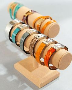 Leather Cuff Bracelets  ... or maybe Mom is more a leather cuff kind of lady?