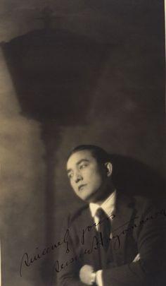 """""""Portrait of Sessu Hayakawa"""" Toyo Miyatake c.1923"""