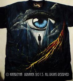 "T-shirt "" behind my eyes.."" malowany ręcznie.  © Katarzyna Urbanek , All rights reserved https://www.facebook.com/lunarisart"