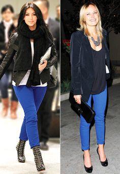 Blue Skinny Jeans - Kim Kardashian - Malin Akerman