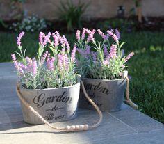 Set2 Artificial Tree Fake Silk Lavender Flower Plant Potted Home Decor | eBay