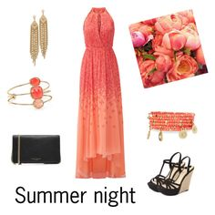 """""""Summer night"""" by nathalie1000000 on Polyvore featuring Badgley Mischka, Jessica Simpson, Emily & Ashley, Kate Spade, Marc Jacobs and Capwell + Co"""