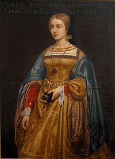 Painting of Isabel of Austria, late 1400s, early 1500s.