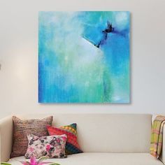 East Urban Home 'Free Flow' Print on Canvas Size: 12'' H x 12'' W x 0.75'' D