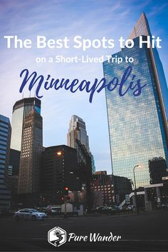 The more I've traveled, the more I desire to see every place I possibly can. When the opportunity presented itself to take a short trip to Minneapolis, I couldn't have been more thrilled. While my friends didn't seem to understand my excitement, I knew that my city-loving heart would find something to love about Minnesota's biggest city.