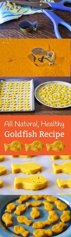 Here's a healthy homemade goldfish cracker recipe made with cassava flour and, yes, turmeric! Tastier than conventional goldfish, and kids love them! www.mamanatural.c...