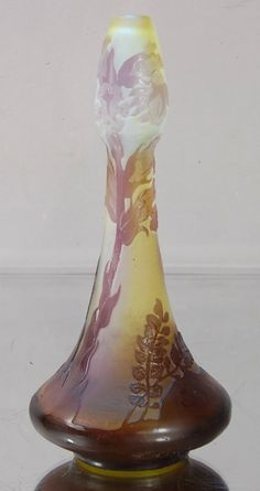 galle art glass | Emile Galle´ Cameo French Art Glass Vase. : Lot 3