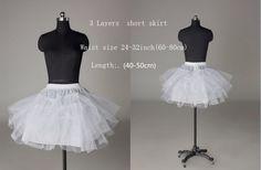 12 Style White A Line/Hoop/Hoopless/Short wedding Crinoline Petticoat/Underskirt