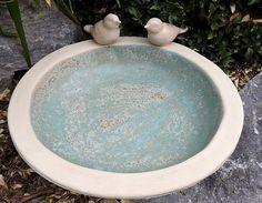 Jewellery For Lady - Ceramic Bird Bath, Ceramic Clay, Cement Art, Slab Pottery, Ceramic Pottery, Small Sculptures, Ceramics Projects, Bird Sculpture, Pottery Designs