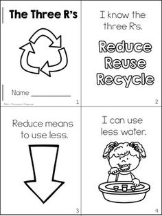 Free Three R's Emergent Reader {Earth Day}