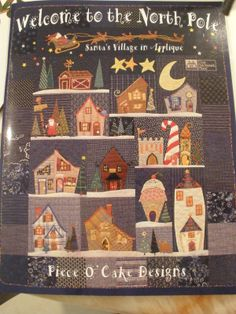 Val Spiers Sews: North Pole Quilt a long - 2013 and now 2014 Wool Applique, Applique Patterns, Embroidery Applique, Quilt Patterns, Sewing Patterns, Christmas Applique, Christmas Sewing, Christmas Patterns, Christmas Quilting