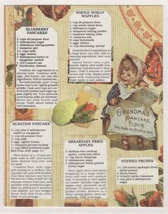 Hey, I found this really awesome Etsy listing at https://www.etsy.com/listing/111488558/vintage-ad-recipe-collage-grandmas