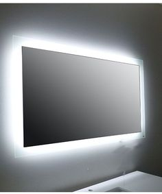 Canadian approved LED backlit bathroom mirror for your modern bathroom design. The mirror is heated to prevent fogging. Restroom Design, Modern Bathroom Design, Bathroom Interior Design, Decor Interior Design, Interior Decorating, Backlit Bathroom Mirror, Bathroom Mirrors With Lights, Led Mirror, Home Decor Mirrors
