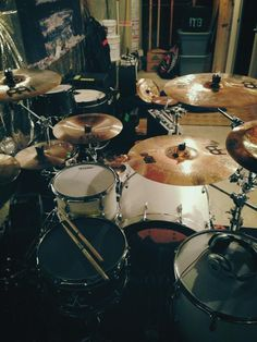 Morgan wright of I the Breather's drum set up love this kit