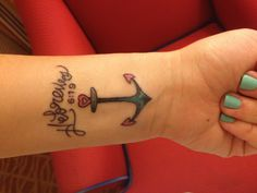 Not a fan of the actual tattoo, as I have seen many better anchor tattoos, but relating the verse back to it is very cool!