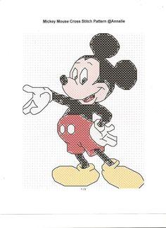 Disney's Mickey Mouse Cross Stitch Pattern. $4.00, via Etsy.