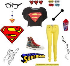 """""""Super SuperMan"""" by carissa-chaos ❤ liked on Polyvore"""
