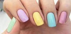 80 ideas to create the best Halloween nail decoration - My Nails Gorgeous Nails, Love Nails, Fun Nails, Gelish Nails, Nail Manicure, Nails 2018, Girls Nails, Super Nails, Pastel Nails
